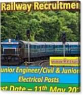 Konkan Railway Recruitment Canvas Print