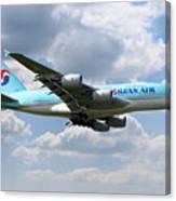 Korean Air Airbus A380 Canvas Print