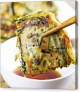 Korean Green Onion Pancakes Ready To Eat  Canvas Print