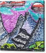 Korean Hills Canvas Print