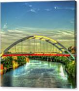 Korean Veterans Memorial Bridge 2 Nashville Tennessee Sunset Art Canvas Print