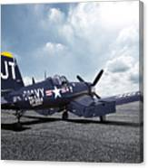 Korean War Hero F4-u Corsair Canvas Print