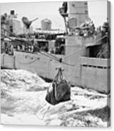 Korean War: Navy Mailbag Canvas Print