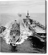 Korean War: Ship Refueling Canvas Print