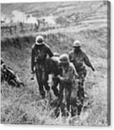 Korean War: Wounded, 1950 Canvas Print