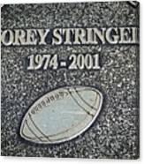 Korey Stringer Tribute Canvas Print