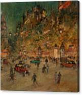 Korovin, Konstantin 1861-1939 Les Grands Boulevards, Paris Canvas Print