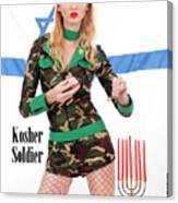 Kosher Soldier Canvas Print
