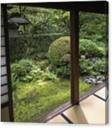 Koto-in Zen Temple Side Garden - Kyoto Japan Canvas Print