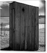 Koyl Cemetery Outhouse5 Canvas Print
