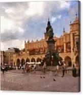 Krakow Main Market Canvas Print