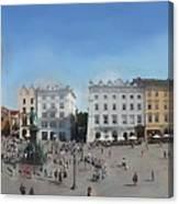Krakow, Town Square Canvas Print