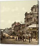 Krestchatik Street In Kiev - Ukraine - Ca 1900 Canvas Print