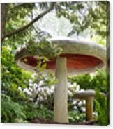 Krider Garden Mushroom Canvas Print