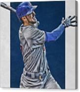 Kris Bryant Chicago Cubs Art 3 Canvas Print