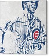 kris bryant CHICAGO CUBS PIXEL ART 2 Canvas Print