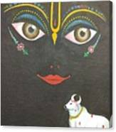 Krishna With Cow Canvas Print
