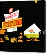 Krispy Kreme At Night Canvas Print