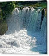 Krka National Park Waterfalls Canvas Print