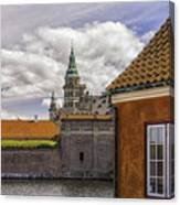 Kronborg Castle From The Moat House Canvas Print