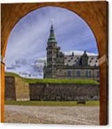 Kronborg Castle Through The Archway Canvas Print