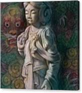 Kuan Yin Dragon Canvas Print