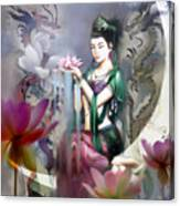 Kuan Yin Lotus Of Healing Canvas Print