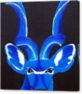 Kudu Blue Canvas Print