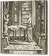 Kulmus About Perform Autopsy, 18th Canvas Print