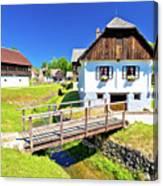 Kumrovec Picturesque Village In Zagorje Region Of Croatia Canvas Print
