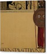kunstavsstellvng - Vienna Secession Exhibition - Retro travel Poster - Vintage Poster Canvas Print
