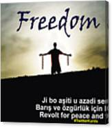 Kurdish Peace And Freedom Poster Canvas Print