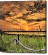 Kure Beach Sunrise Canvas Print