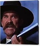 Kurt Russell As Wyatt Earp  In Tombstone 1993 Canvas Print