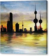 Kuwait City Sunset From The Bay Canvas Print