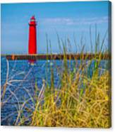 Kyaks By Muskegon Light Canvas Print