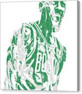 Kyrie Irving Boston Celtics Pixel Art 42 Canvas Print