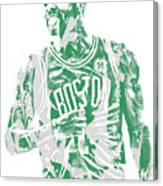 Kyrie Irving Boston Celtics Pixel Art 7 Canvas Print