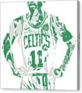 Kyrie Irving Boston Celtics Pixel Art 8 Canvas Print