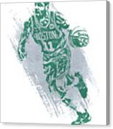 Kyrie Irving Boston Celtics Water Color Art 2 Canvas Print