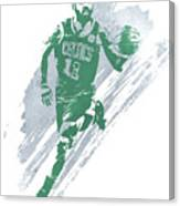 Kyrie Irving Boston Celtics Water Color Art 4 Canvas Print