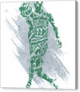 Kyrie Irving Boston Celtics Water Color Art Canvas Print
