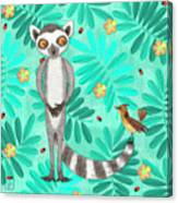 L Is For Lemur And Lark Canvas Print