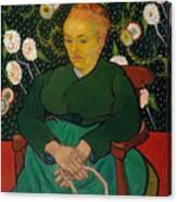 La Berceuse. Woman Rocking A Cradle. Augustine-alix Pellicot Roulin Canvas Print
