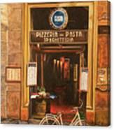 La Bicicletta Canvas Print