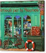La Bicicletta Rossa Canvas Print