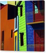 La Boca Street Scene One Canvas Print