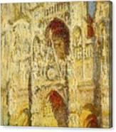La Cathedrale De Rouen Le Portail Et La Tour Saint-ro Claude Oscar Monet Canvas Print