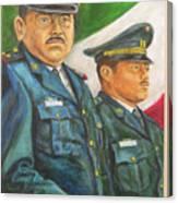 La Ceremonia De La Bandera Canvas Print