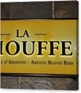 La Chouffe Sign Canvas Print